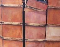 Cajas coloradas. 146x114cm.