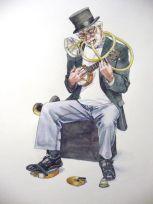 Street musicians drawings, dibujos de músicos callejeros