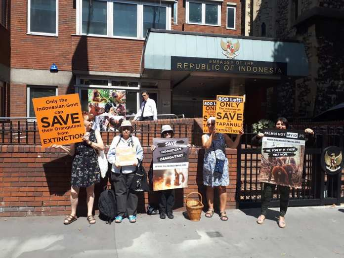 After Protest In Phuket Anti Palm Oil Activists Strike Again In Front Of Indonesia S Embassy In London