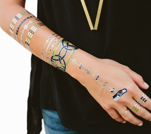 Seahawks Lulu DK Tattoos | Palms to Pines