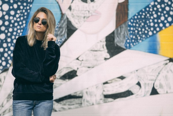 Topshop Batwing Velvet Sweater | Palms to PInes
