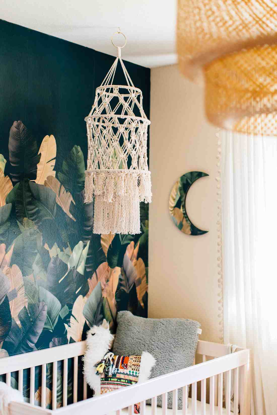 Palms to Pines Nursery Reveal   Romy and Piper   Twin Girls Bohemian Tropical Nursery