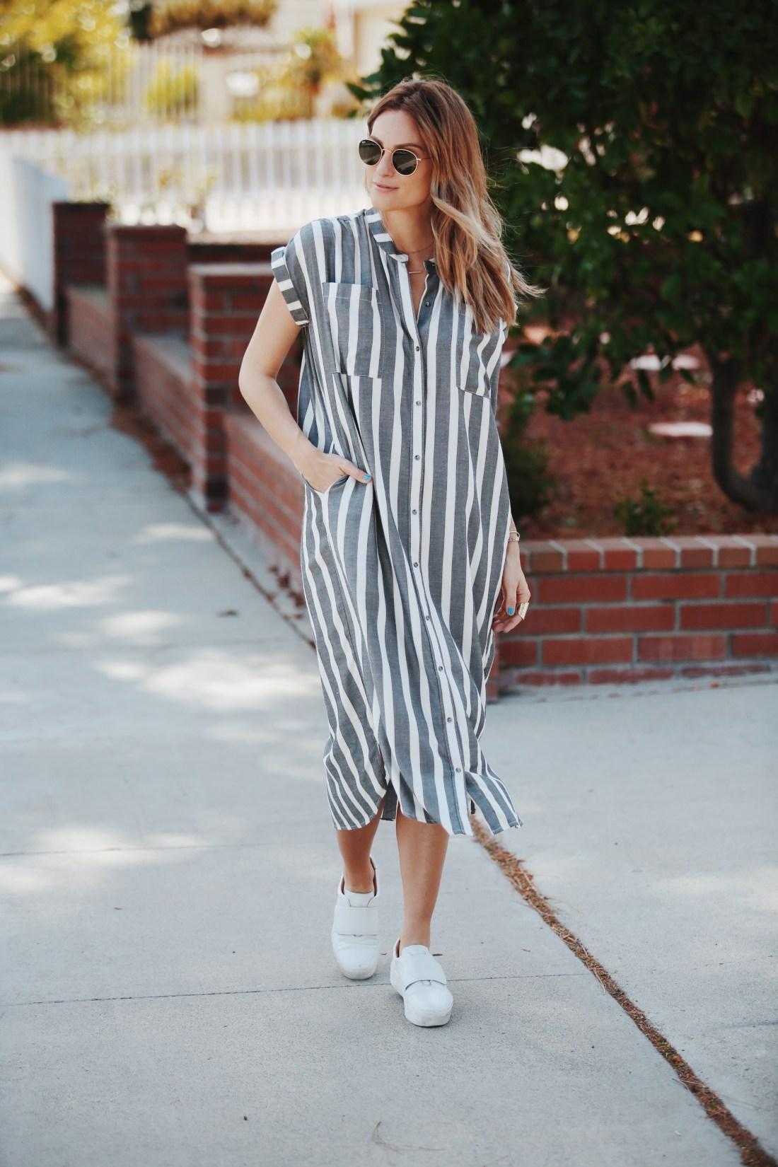 Shirt Dresses Under $100 | Knot Sisters Haze Shirt Dress | Palms to Pines