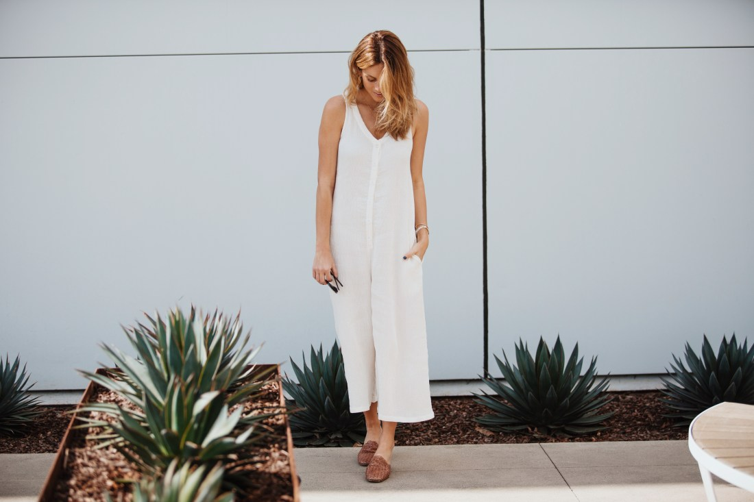 LACAUSA White Jumpsuit | Palms to PInes