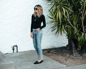RE/DONE Jeans and Bodysuit