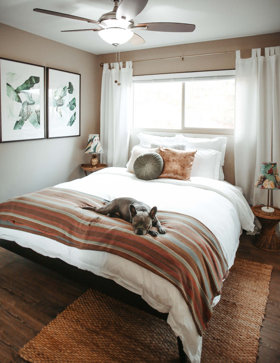 Guest Room Vintage Beach Vibe | Boll and Branch
