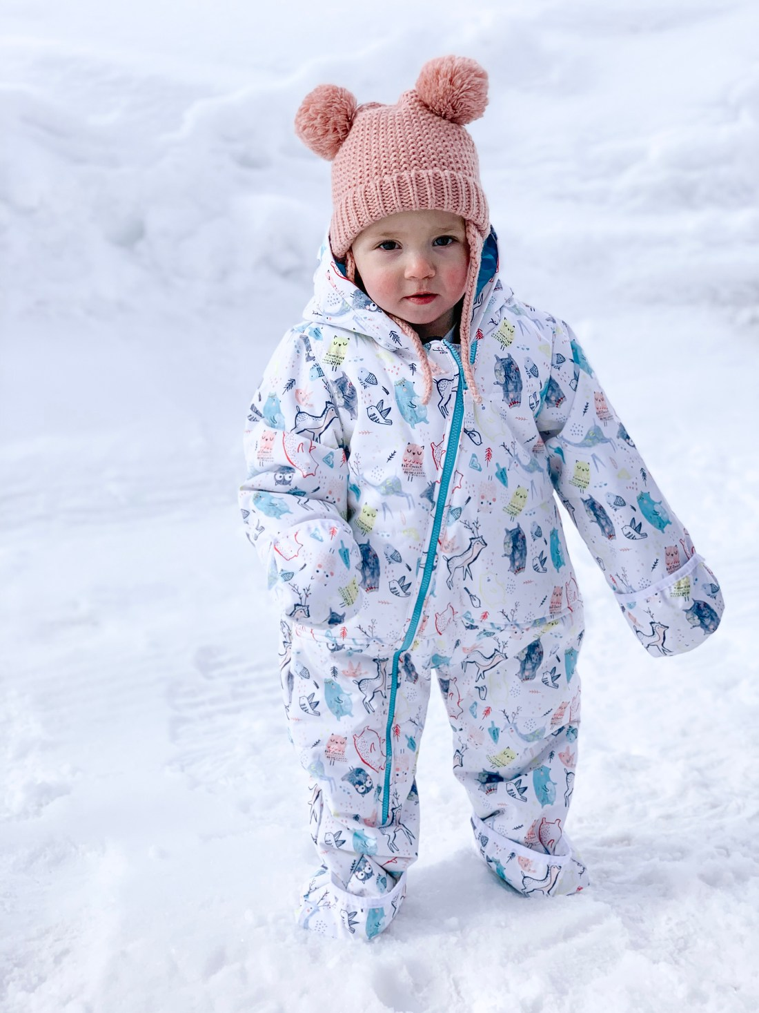 Romy and PIper Skiing | Roxy Baby Snow Suit