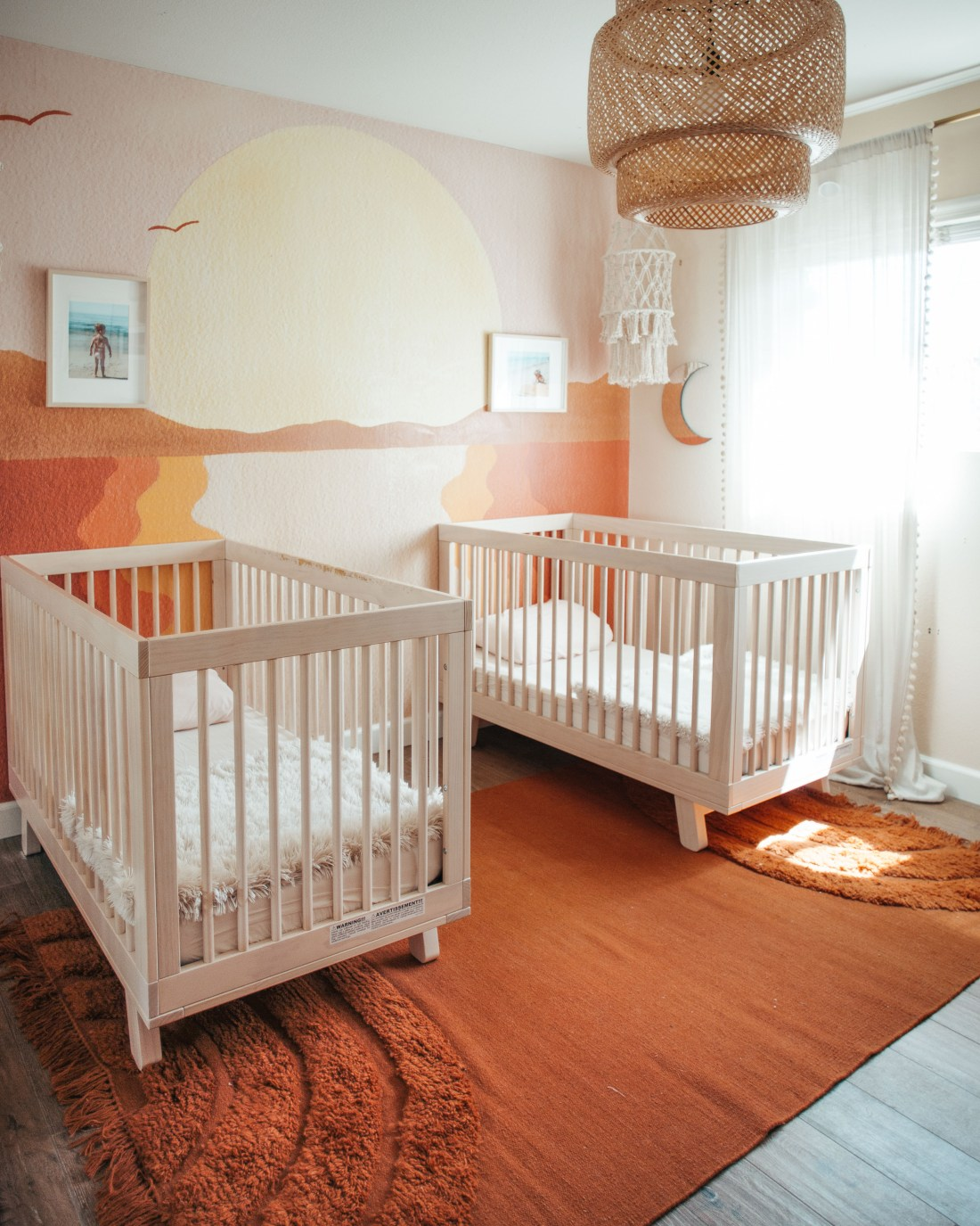 Romy and Piper's Twin Nursery