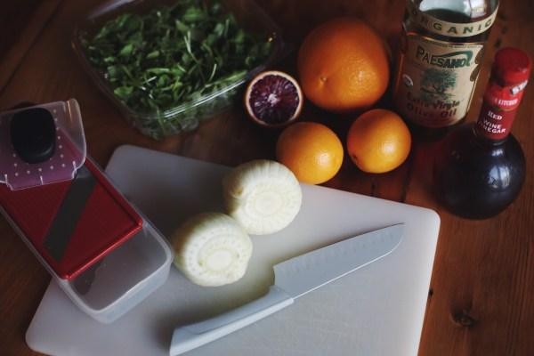 Fennel, Arugula, Blood Orange Salad | Palms to Pines