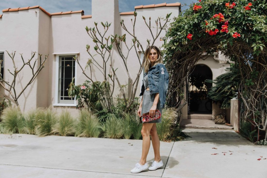 Palms to Pines lifestyle blog | layering embroidered denim