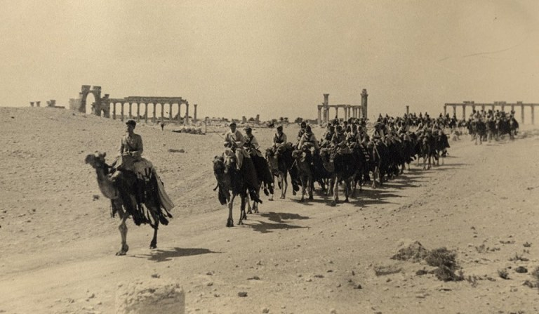 Photograph from Palmyra,1930, by Sir Duncan McCallum,with hand written note :