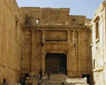 The Southern niche of the sanctuary of Bel, where the statue of GOD put in.