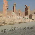 The Arch of Triumph in Palmyra after the destruction by ISIS