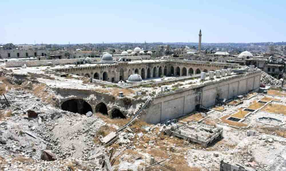 Umayyad Mosque in Aleppo, Syria, in 2017