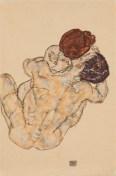 The Kiss, Egon Schiele (1915)