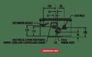 Paloma 26 litre underside schematic