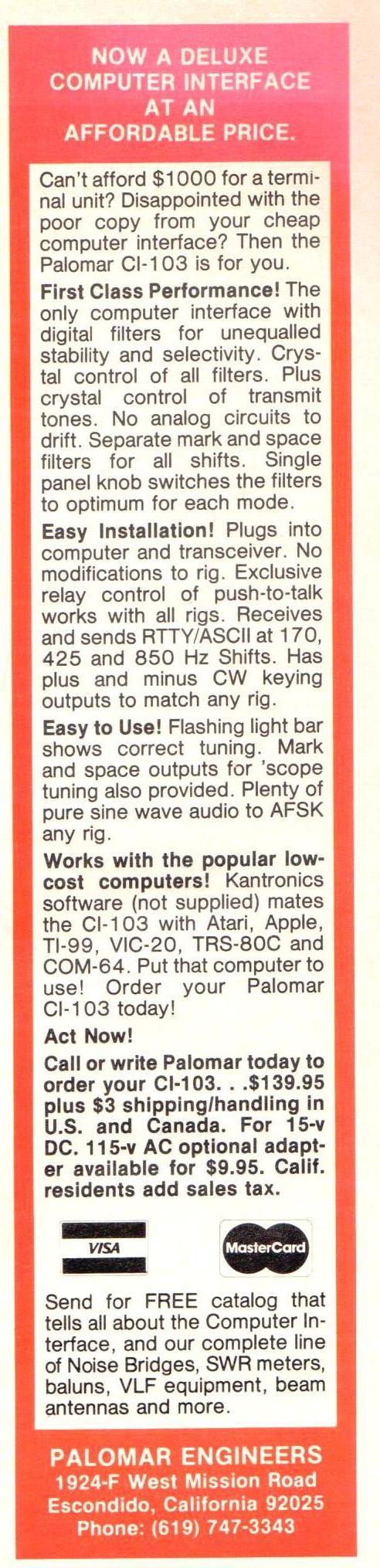 CI 103 Ad - CI-103 Computer Interface