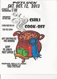 Chili Cookoff And Potluck Palomar Mountain News