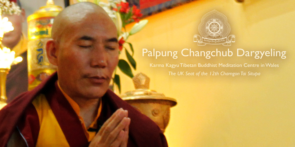 Venarable Chamtrul Rinpoche at Palpung Wales 2017