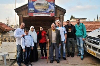 Shamasneh family in front of their house in Sheikh Jarrah. (Photo: thelefternwall.com)