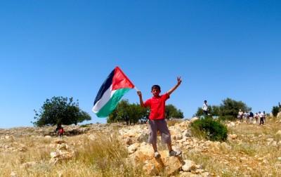 A young demonstrator at Ni`ilin