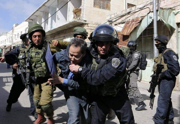 Israeli forces using excessive force arresting an activist