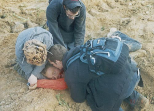 Rachel Corrie after being crushed