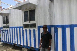 Pertama di Palu, Kontainer Bekas Disulap Jadi Pos Lantas