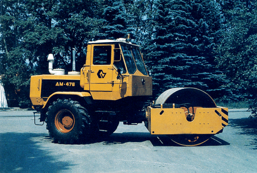 Vibration roller for compaction. These machines are not really intended for deep compaction of soils but surface smoothing, which is necessary when building roads and airfields.