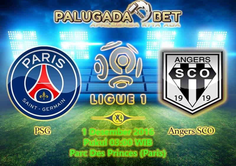 Prediksi Paris Saint Germain vs Angers (Liga Prancis) 1 Desember 2016 - PLG