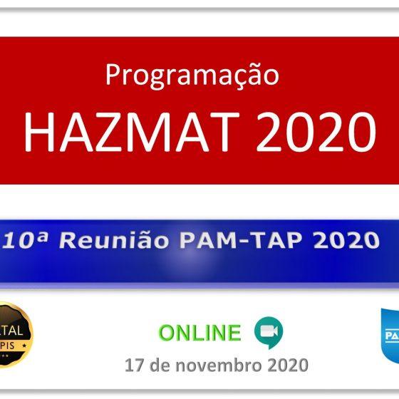 10ª Reunião PAM-TAP 2020