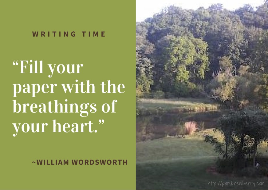 Quote of William Wordsworth and image of Hobbit's Bend