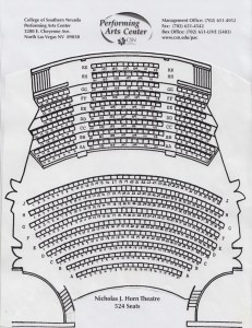 Horn Theatre Seating Chart