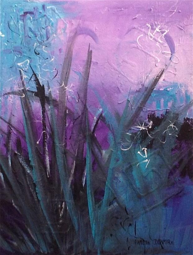 """""""Pushing Forward""""  24""""T x 18""""W  Acrylic on Gallery Wrap Canvas. http://www.pameladunmirefineart"""