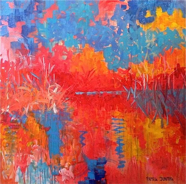 """Reflecting Home"" 30"" x 30"" Acrylic on Gallery Wrap Canvas http:www.pameladunmirefineart.com"