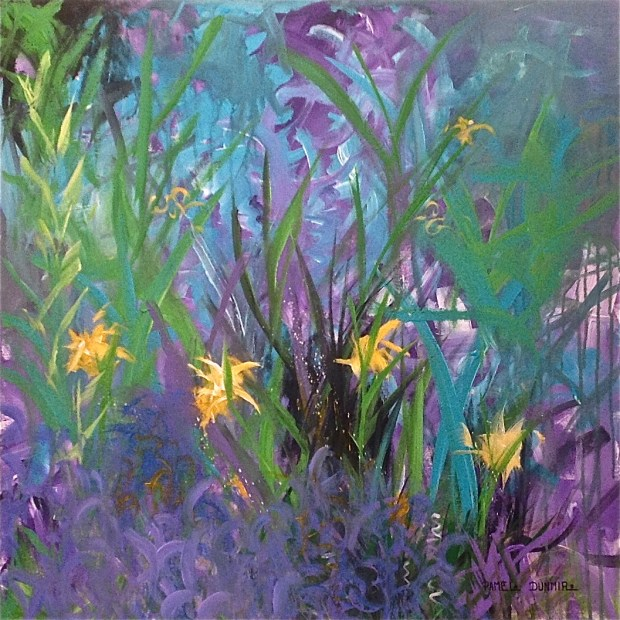 """Jonquils"" 30""x30"" Acrylic on Gallery Wrap Canvas www.pameladunmirefineart.com"
