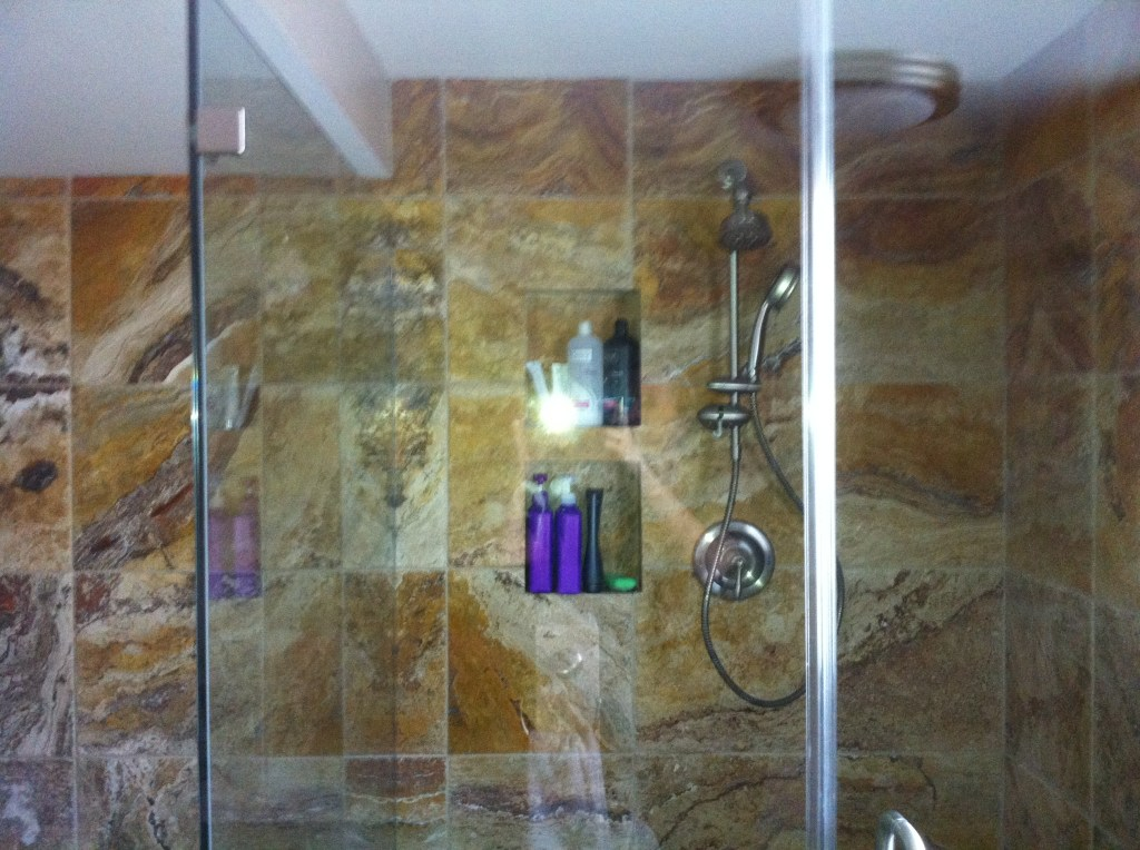 And then there was glass in the shower! But don't ask if we're done.
