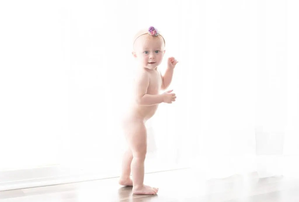 12 Month Old Baby Girl Session