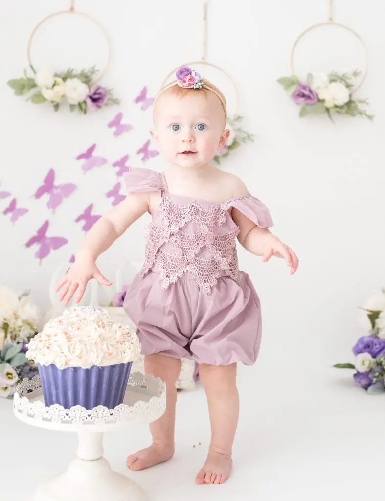 Floral Butterfly 12 Month Girl Session