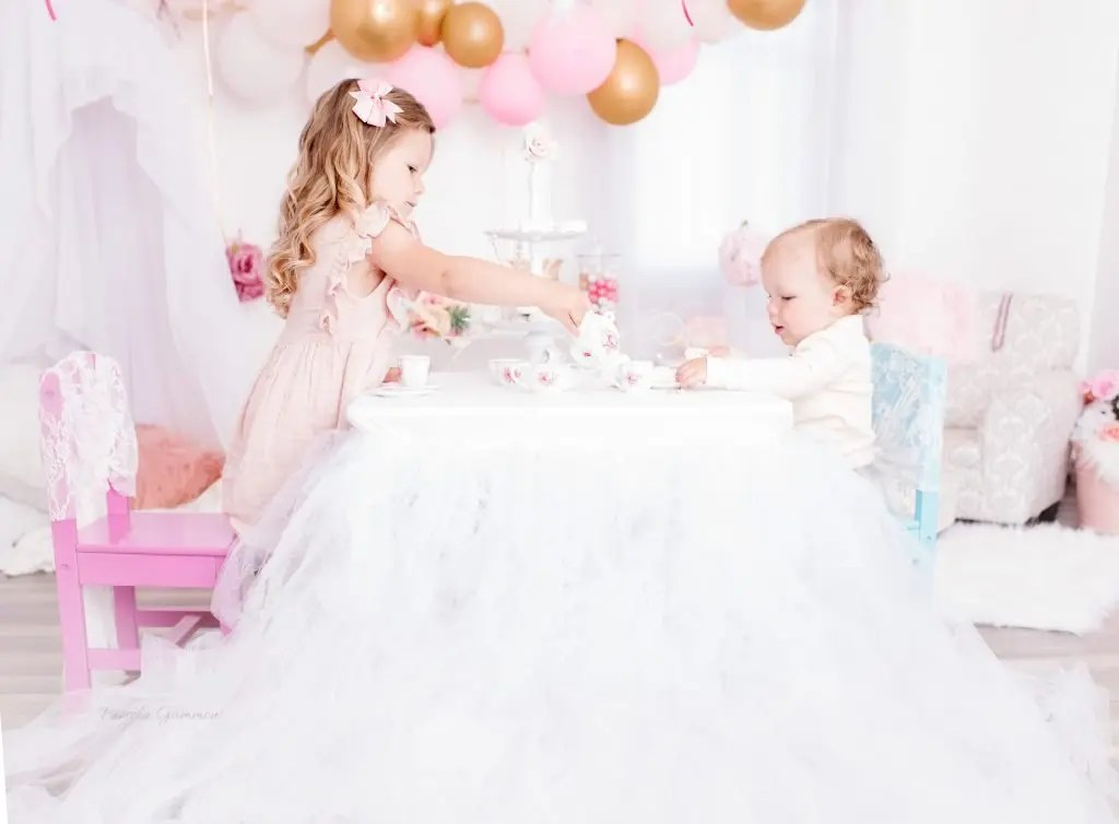 Sibling Tea Party Toddlers