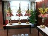 The flower arrangements