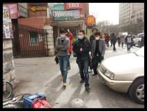 Beijingers wearing masks