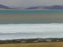 Beautiful blue of a high altitude lake