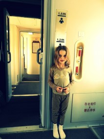 It's good that Sophia's small, as it allowed her to travel for free