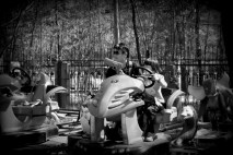 Gunned amusement park ride in Purple Bamboo