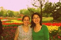 Betty & me & tulips