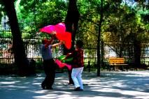 Fan dancing