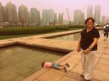 Linda (& Dylan) in Xinghai Square