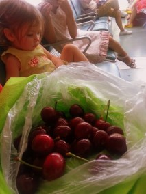 Gorgeous cherries bought in Dalian, eaten at the airport