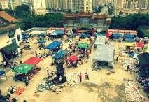 Sunday flea market at Fuguo Park